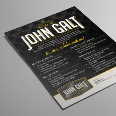 John Galt Recruitment Flyer
